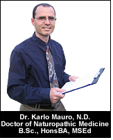 Dr. Karlo Mauro N.D. with Clipboard
